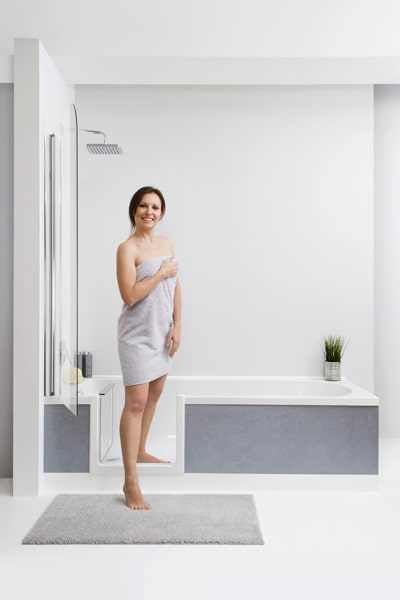 Einstieg für Dusche und Wanne