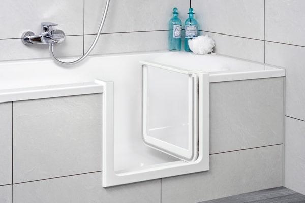 Badewannentür aus Glas